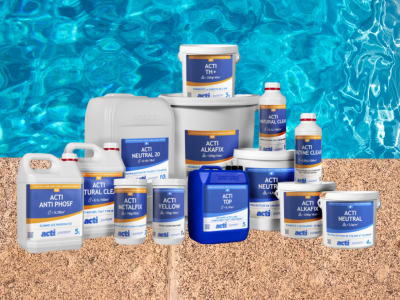 Acti-Chemical-Water-Treatment-Products-Yellow-Range-Poolside-Background